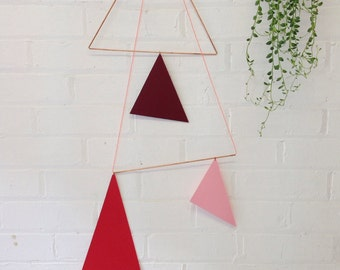Large Geometric Copper Wall Hanging