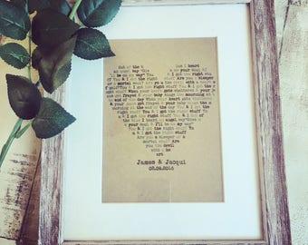 Wedding song lyrics etsy
