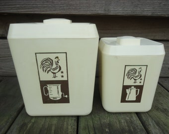 Lustro Ware Rooster Canisters  (set of 2)