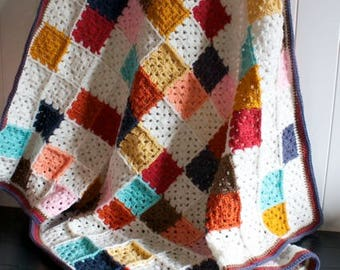 Crochet baby blanket-Crochet Blanket-Baby Blanket-Patchwork Baby Blanket-Throw Blanket-baby blanket-gift-by The Wiggles and Squeaks Shoppe