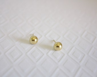 Gold Ball Stud Earrings, Ready to Ship