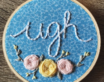 Ugh Embroidery Hoop Art
