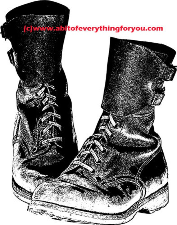 mother combat boots military art printable clipart png download digital image graphics black and white for t shirts cards cups