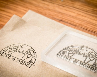 Custom Rubber Stamp - 2.75 x 1.57 inches