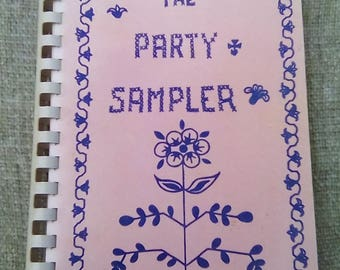 Vintage Spiral Bound Pink The Party Sampler Cookbook 1976 Agee and Maddux