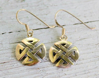 Celtic Knot Sterling Silver Earrings 925 Vintage