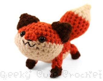 Large Red Fox Amigurumi Crochet Plush Toy Stuffed Animal