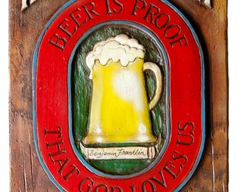 Home Beer Brewery Personalized Sign