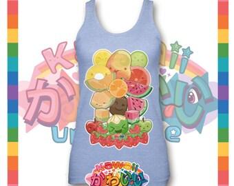 Univers kawaii - Cute classique Fruits groupe créateur Tank Top (unisexe)