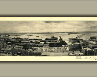 Poster, Many Sizes Available; View Of Harbor San Juan Puerto Rico 1927