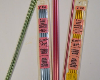 Double Pointed Aluminum Knitting Needles  Choice of Size Size 4 in stock Now