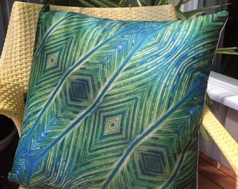 """Leaf / 22"""" / Cushion Cover / Pillow Case / Nature / Leaves / Plants / Unique / Funky / Contemporary / Modern"""
