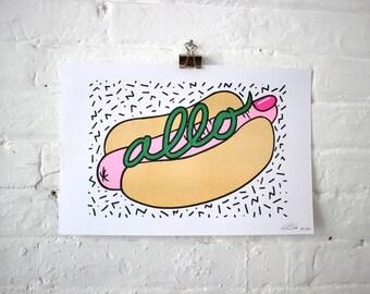 Allo / Risograph print