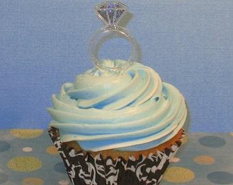 Diamond Ring Cupcake Pick   (12)