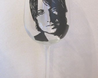 Hand Painted Wine Glass - KEITH URBAN, Country Music Singer