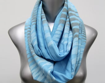 Infinity Scarf, Boyfriend, Boyfriend Gift, Light Blue Scarf, Gift for Women, Gifts for friends, Friendship Gift