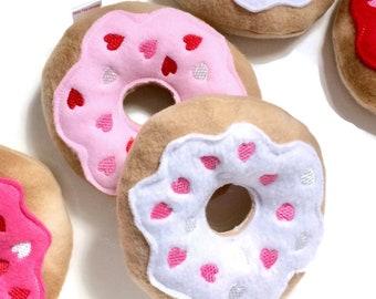 Heart Donut Dog Toy | Hearts Donut | Squeaky Dog Donut | Dog Toy | New Dog Gift | Squeaky Toy | Puppy Toy | Squeaky Dog Toy |