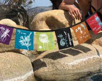 Earth Intention Prayer Flags -6x6inch 6 flag set