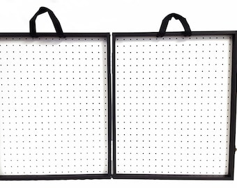 """3 3/4"""" Thick Folding Pegboard Display Suitcase"""