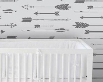 Removable Wallpaper, Peel and stick wallpaper, Wallpaper, Arrow wallpaper, Kids wallpaper, Nursery wallpaper, self adhesive wallpaper