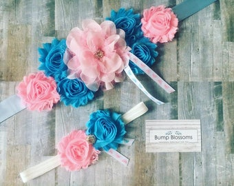 Gender Reveal Maternity Sash, Gender Reveal Sash for baby shower, Mom to be Maternity sash, Maternity sash for gender reveal, Maternity Sash