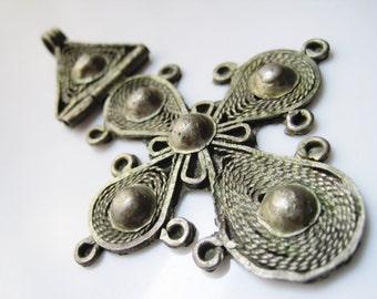 Ethiopian Hinged Cross Pendant, Ethiopian Jewelry, Coptic Cross from Ethiopia