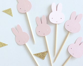 Bunny cupcake toppers - pack of 12