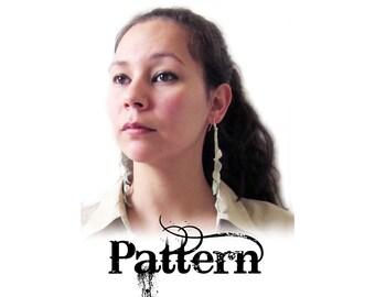 Crochet Dangle Earring Pattern - Fall Leaves