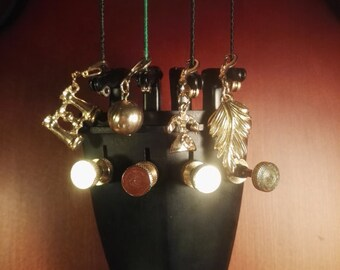 90 pendant set true vintage charm bracelet Retro phone red