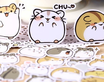 Cute Hamster Planner Stickers Scrapbooking Stickers Funny Planner Stickers