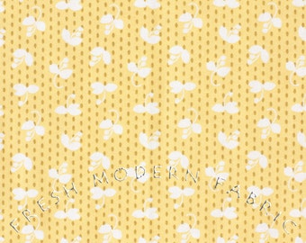 Half Yard Madrona Road Sprout in Straw, by Violet Craft for Michael Miller Fabrics, 100% Cotton Fabric