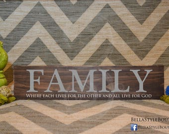Family Wood Sign 24""