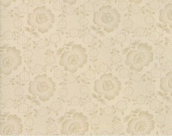 Moda Jos Shirtings by Jo Morton Cream Natural Floral Civil War Reproduction Fabric 38040-13 BTY