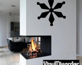 Snowflakes Vinyl Wall Decal Or Car Sticker - Mv023ET