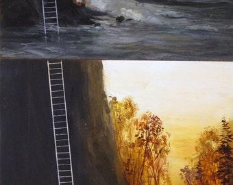 Autumn Ladder-Original Painting-