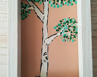 Fairy with tree photoframe painting