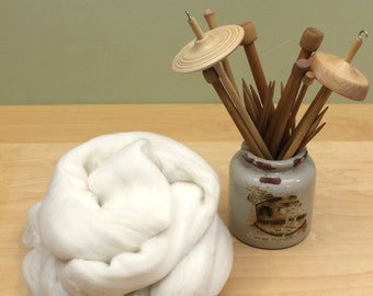 Superwash BFL Roving (Combed Top) - Blue Face Leicester - Undyed Spinning Fiber (8oz)