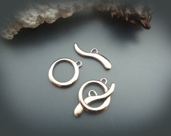 Silver Tone Toggle Clasps - 2 sets ( DS120 )