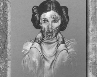 Princess Leia Art Print - Star Wars Poster, Movie Print, Movie Poster, Star Wars Print