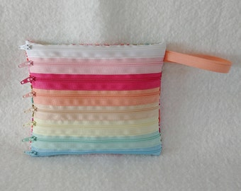 Ice Cream Rainbow Zipper Pouch