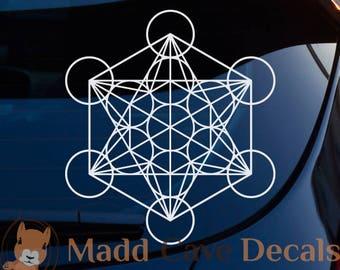 Metatron's Cube Sacred Geometry Decal | Metatron Decal | Metatron Sticker | Metatron Car Decal | Sacred Geometry Decal