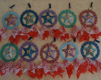 Miniature Handcrafted Filipino Christmas Lantern AKA Parol - Christmas Ornaments