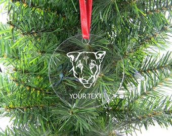 Personalized Custom Cougar Clear Acrylic Christmas Tree Ornament with Ribbon