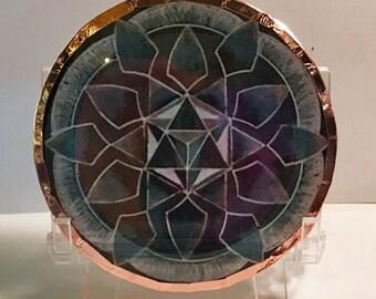 Black Tourmaline Crystal Disc