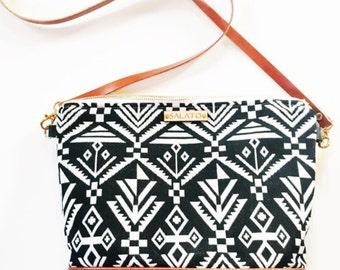 Aztec Bag - Leather Crossbody Bag - Leather Crossbody - Woven Purse - Leather Crossbody Purse - Leather Purse - Crossbody Purse -