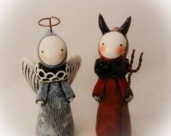 Angel and Devil Poppet Set