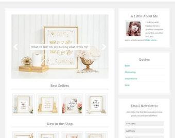 Ashlynn // Feminine eCommerce WordPress Theme