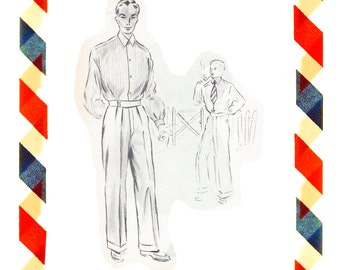 Vintage Sewing Pattern in any size including plus size 1949 PDF Instant Download Pattern no 98