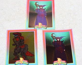 Mighty Morphin Power Rangers 1994 Trading Cards 2 Rita 1 tyrannosaurus dinozord