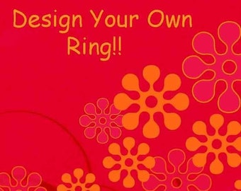 Design Your Own Ring by Funky Felt Flowers